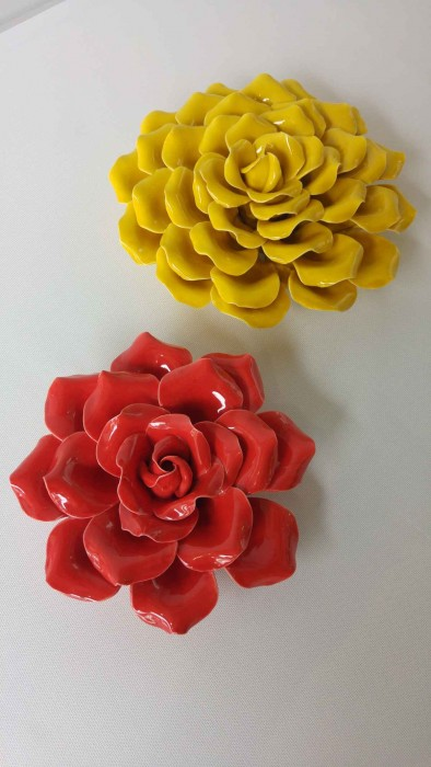 $88 One Pair. Material-Porcelain. Red&Yellow